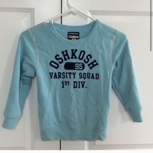 OSHKOSH b'gosh Boy's fleece lined sweatshirt sz 6